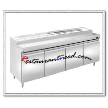 R311 2.0m 4 Portas Fancooling Pizza Prep Station